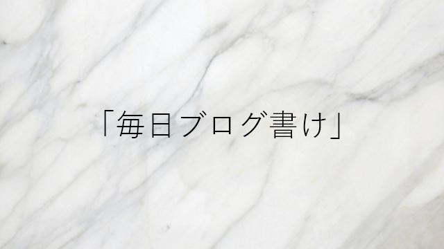 毎日ブログ書けってYouTuberイケハヤ氏が言ってたからそうしてみる